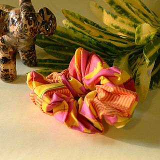 [Love in Africa] African Floral Colon / Hair Band - Pink Party