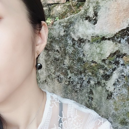 Natural Stone Shake Earrings Iron Gallstones Free Clipping