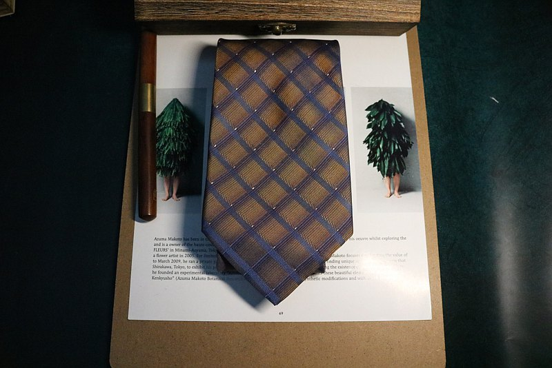 Brown big ringer silk tie business dress and necktie