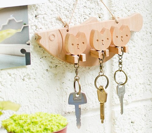 [customized gift] 喵喵喵customized key ring hanging version of the newlywed home furnishings necessary