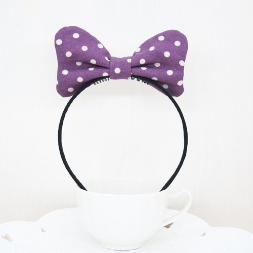 Cute little Minnie series - lilac purple soft Q cloth butterfly hair ring