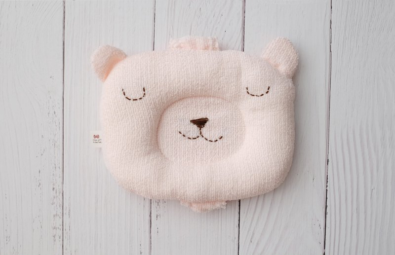Pink Sleeping Bear Hand Pillow Breastfeeding Pillow