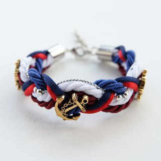 Nautical braided bracelet in Tri-color