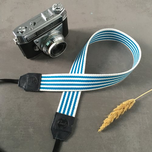 Blue & White  Mirrorless or DSLR Camera Strap