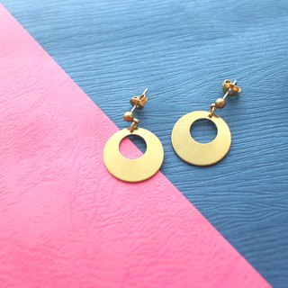 Little girl-Brass handmade earrings