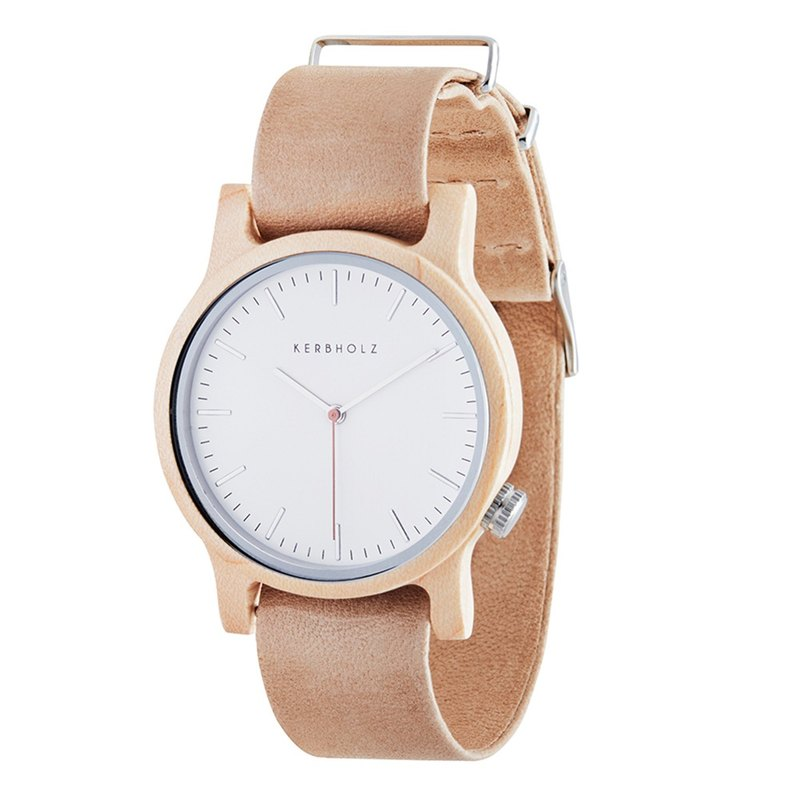 KERBHOLZ-Wood Watch-WILMA-Maple-Naked Skin (Neutral) (35mm)