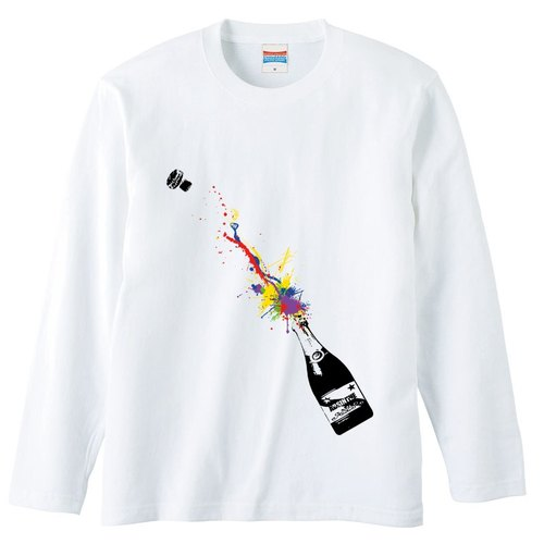 [Long sleeve T-shirt] Champagne