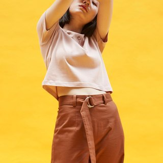 Anode high waisted trousers in brown