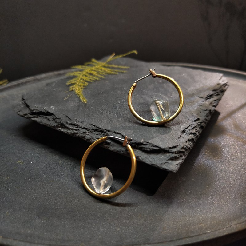 Ore earrings - simple style - small mine