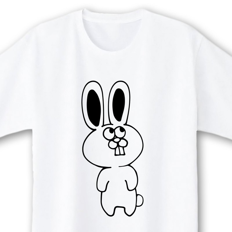 Rabbit [White] ekot T-shirt illustrations