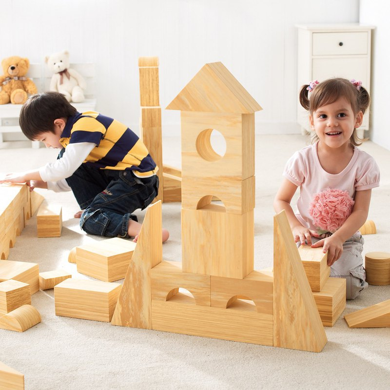 Weplay Softwood Blocks - 56 pcs (8cm)