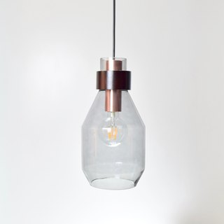 Smoke Grey Long Bottle Shape Pendant -BNL00123