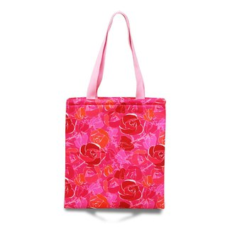 Illustrated Shoulder Print Bag - Pink Rosette