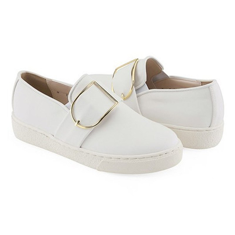 PRE-ORDER – CLLIB ZENN_FRAME BUCKLE SLIP ON MS4379 WHITE
