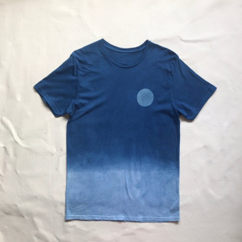 BLUE MOON WAVE TEE Indigo dye cott organic cotton
