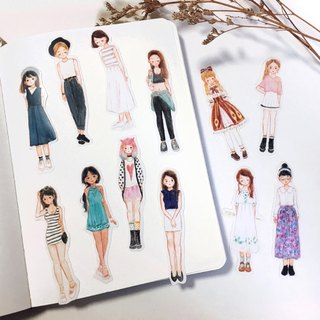 / Stickers/ Fashion Style / 12pcs /