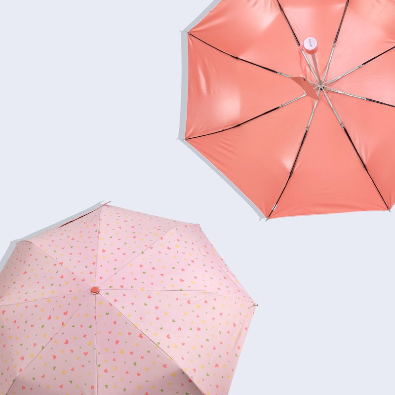[Taiwan Wenchuang Rain's talk] Frozen Age Play Geometry Anti-UV Tri-Fold Hand Open Umbrella Powder Love