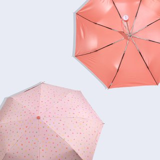 [Taiwanese Wenchuang Rain's talk] Anti-Summer Trip Play Geometry Anti-UV Tri-fold Open Umbrella Pink Love