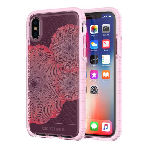 Tech21 iPhone X Collision Soft Plaid Cover - Powder (5055517385725)
