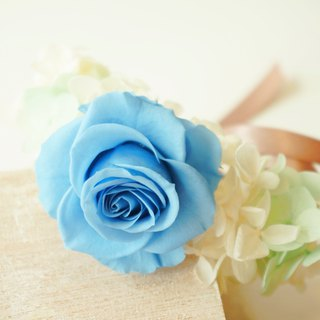 Tiffany blue wrist flower dry flower without flower wrist flower bride bridesmaid flower girl wedding dress