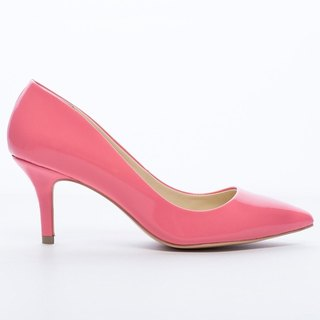 Saint Landry] [candy patent leather kitten heels - coral pink.