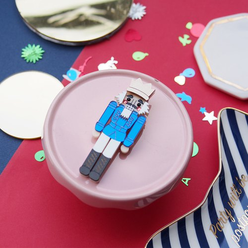 Nutcracker Brooch - Blue