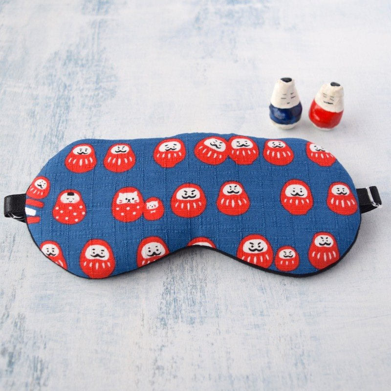 Good luck Daruma blue/eye mask/with a small bag/travel/sleep mask/