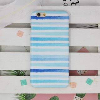 Watercolor Blue stripe hard Phone Case phone X 8 7 7+ plus s8 S7 edge Note 5