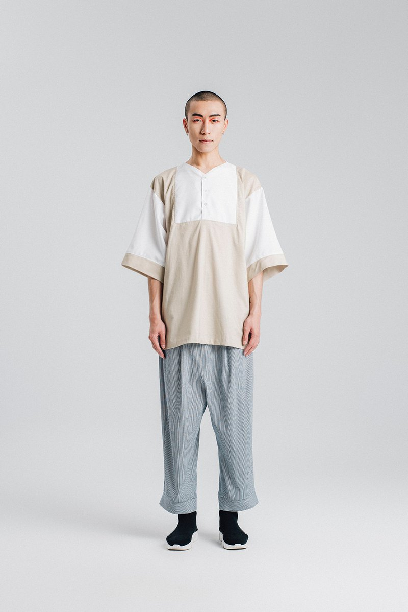 Alan Hu 2018S/S Monk Top