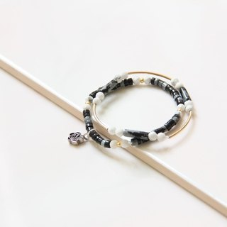 Fashion Jewelry series of energy - alabaster white proluta hands Bracelet / Alabaster & Howlite dual bracelets (two combinations)