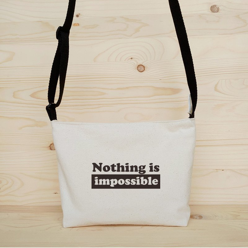 Positive energy crossbody bag_nothing is impossible