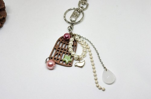 -Bird cage-Key ring//Veneer=>Limited x1 #甜美#可爱#Bag pendant