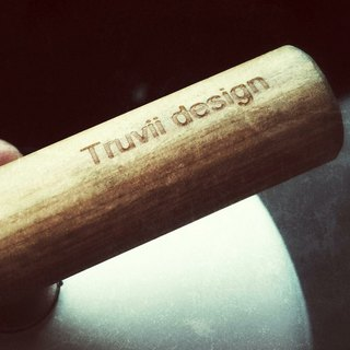 [Customized] Adding Goods - Wooden Handle Cup Lettering Service