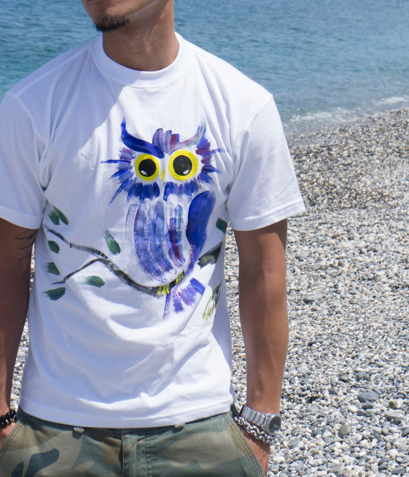 Owl Winwing hand-painted clothing