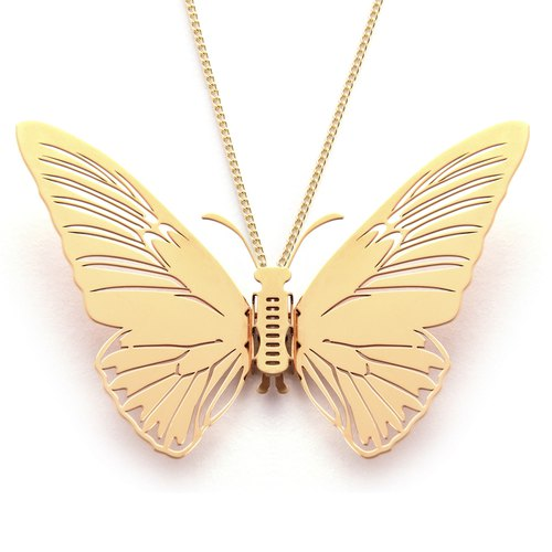 Magi-Steel Thin Steel Jewelry Butterfly Yan Taiwan - Yellow Sang Pho Necklace (Gold)
