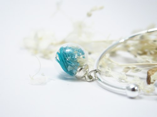 Dried flower Bangle, Glass ball Bangle, Simple glass ball Bangle, Silver Bracelet, Real Flower Jewelry, Dry flower jewellery, Dried flower Glass ball Bangle, Sakura Accessories