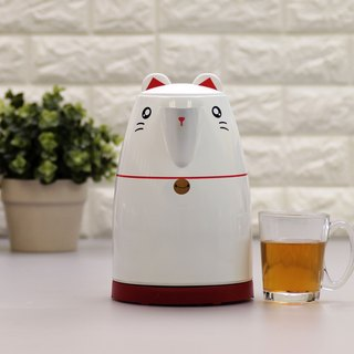 Animal series 1.7L Cordless Electric Water Kettle - White Cat