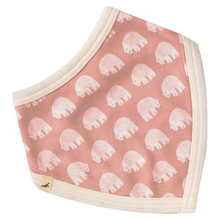 100% organic cotton pink polar bear triangle saliva towel bib pocket made in the UK