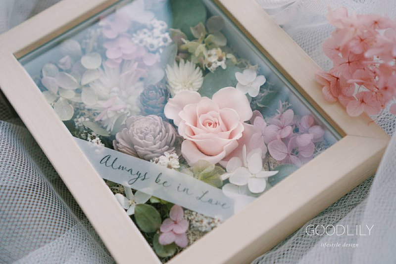 Chinese Valentine's Day Flower Ceremony _ Yongsheng Rose Garden Photo Frame (can be customized blessing note content)