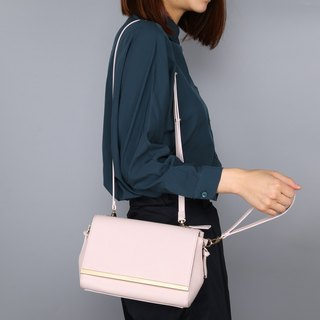 Fashionable Bag Set design Light Pink Color Synthetic Leather Ladies Handbag