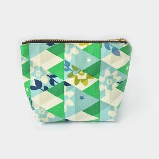 小钱包 Cute Coin Purse, Retro Flower on Triangle