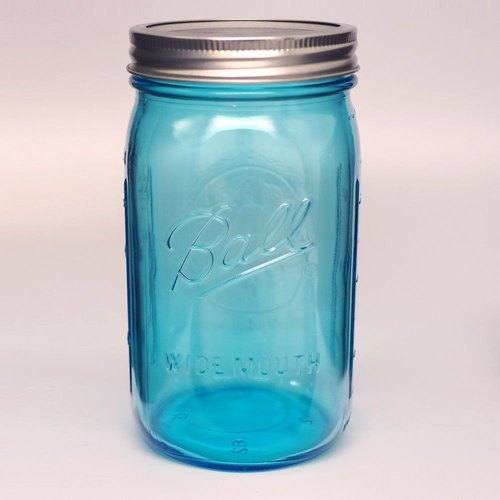 Ball Mason Jars - Ball Mason Jar 32oz Blue Wide Canister