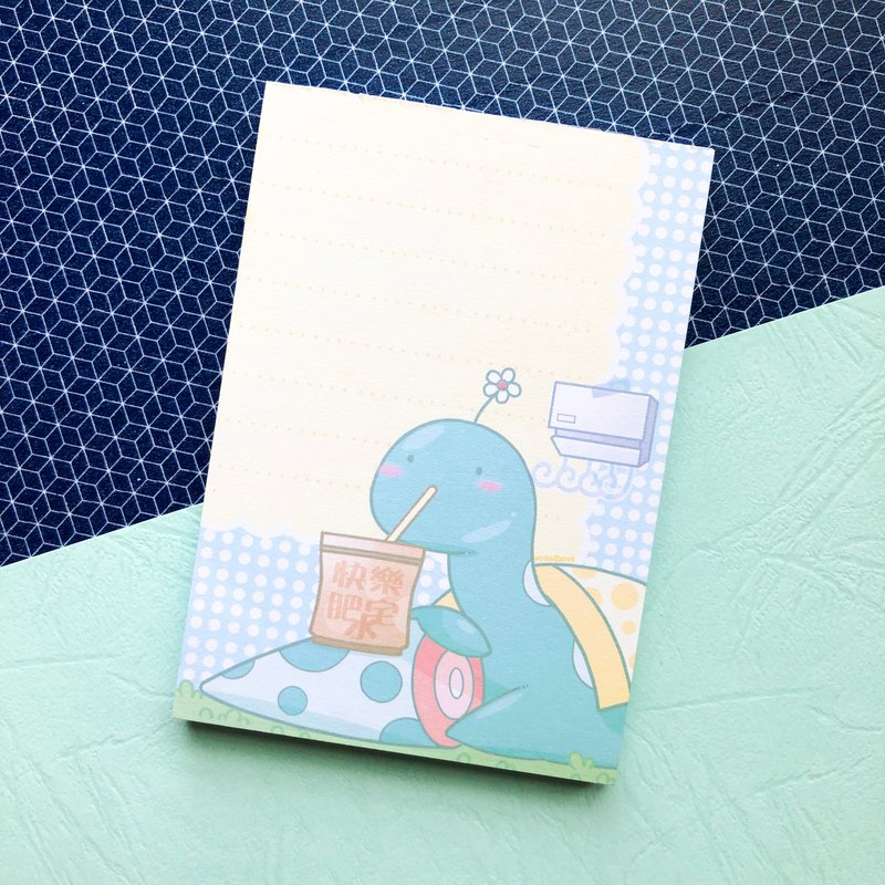 Loch Ness Monster series—Happy Homebody—note pad