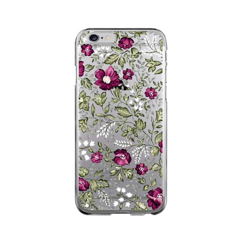 Clear iPhone case clear Samsung Galaxy case floral 1934