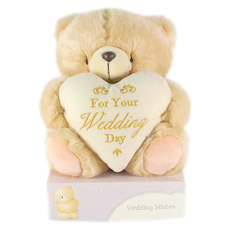 8吋/Wedding Greetings Fluffy Bears [Hallmark-ForeverFriends Plush-Marriage Series]