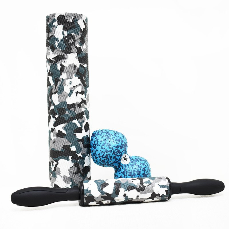 FunSport Black Panther-Myofascial Roller + Roller + Li Shule Peanut Ball (send canvas bag)