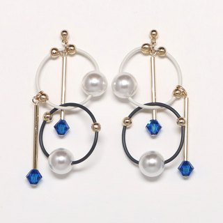 cosmos-summer blue beads earrings · earrings