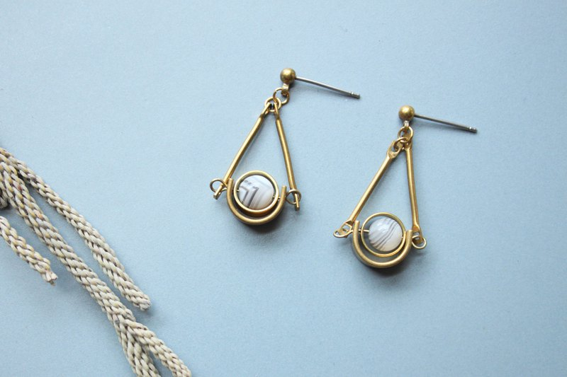 Whirling - earring  clip-on earring