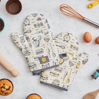 British Egg Organic Cotton Oven Gloves Baker