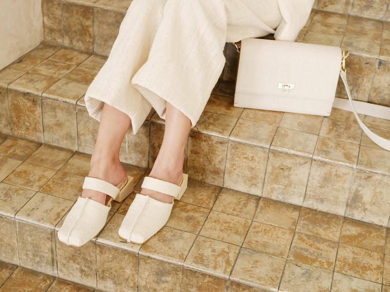 mule shoes cotton casual-look